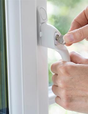 poignée à clef de fenêtre